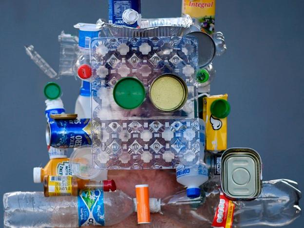 Marcio Rodrigues a folosit reciclabile în proiectarea sa. DOUGLAS MAGNO/Getty Images
