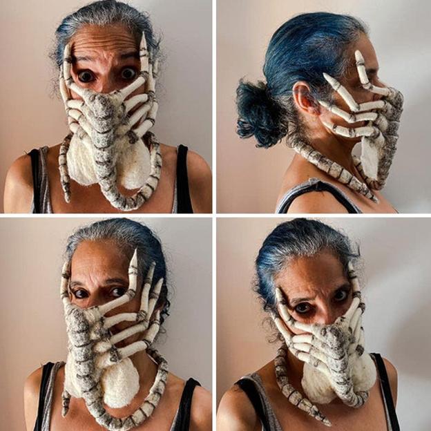 Masca de față terifiantă a Cristinei Rodo. Cristina Rodo